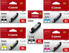 5 XL Original TINTE PATRONEN Set CANON PGI-570-PGBK CLI-571-C M Y BK Multipack