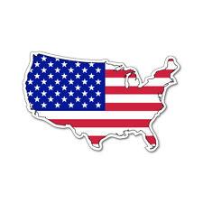 USA MAP SILHOUETTE FLAG VINYL CAR VAN IPAD LAPTOP STICKER