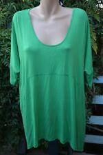 TS 14+ Grass Green STATIC Tunic Top SIZE L -20 S/Sleeve rrp$89.95