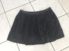 Jupe MAJE Taille 40 Quasi Neuve Noire paillettes,sequins