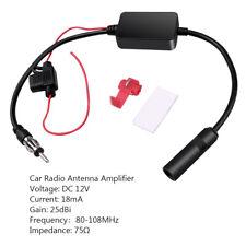 Car Stereo Antenna FM/AM Radio Signal Enhance Amplifier Booster 12V Universal D