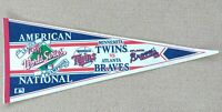 Vintage 1991 World Series Pennant Baseball Officially Licensed Twins Vs Braves