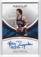2016-17 Kelly Tripucka /25 Auto Panini Immaculate Autographs Heralded Signatures