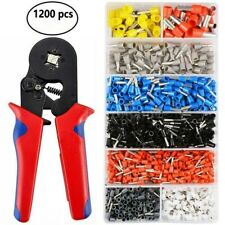Wire Crimping Pliers Tool Ferrule Crimper 0.25-10mm² + 1200Pcs Crimp Terminals