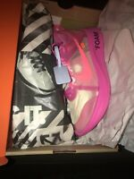 🔥Brand New Size 9.5 Nike Zoom Fly SP x OFF-WHITE Tulip Pink 2018 100% Authentic