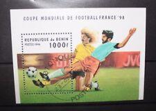 "FRANCOBOLLI BENIN 1996 ""WORLD CUP FRANCE 98 - FOOTBALL"" USED BLOCK (CAT.J)"