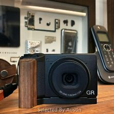 Walnut Wooden Wood Hand Grip with Alum Base Plate Bracket For Ricoh GR3 GRIII