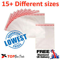 Clear Cello Bags Cellophane Display Bag for Cards & Photos - UK FREE DELIVERY