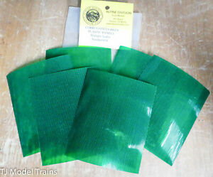 Alpine Division Scale Models #634 Corrugated Green Plastic Panels (Any Scale)