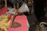 Vintage Industrial Metal Machine Shop Steampunk Table lamp W/Gooseneck Spout