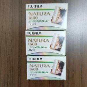 Fuji FUJICOLOR 1600 35mm 36ex color film set of 3 //  Expired DHL ship