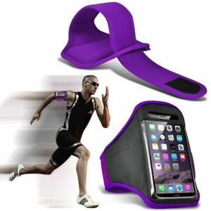 Purple✔Quality Sports Armband Gym Running Workout Belt Strap Phone Case Cover