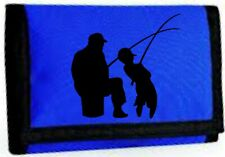 Father and Son fishing ripper wallet - Men's & Boys wallet - Fisherman - Gift