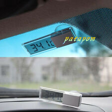 Car Windshield LCD Digital Room Temperature Meter Thermometer Suction Cup C/F PA
