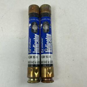 LOT OF (2) LITTELFUSE INDICATOR FLSR 15 ID FUSE Tested Good