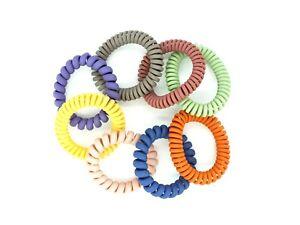 8 PCS Spiral Hair Ties Spiral Coil Hair Elastics No Damage Hair Band Ponytail