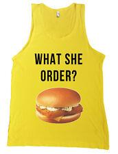 What She Order? Fish Filet Kanye West Paris Bella + Canvas Tank Top Shirt NEW