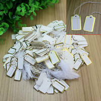 200 x 32mm x 22mm Bianco cordati string Swing tag prezzo biglietti Tie Su Etichette
