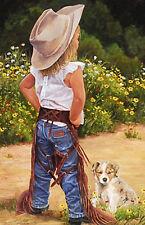 Boss Lady June Dudley Children Western  Print Poster Art 22x31
