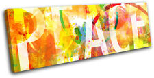 Peace abstract  Typography SINGLE DOEK WALL ART foto afdrukken