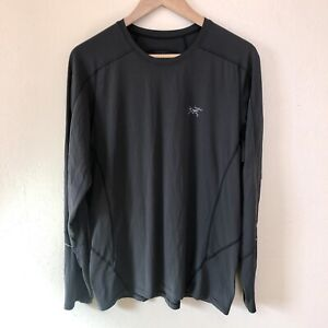 Arcteryx Grey Motus Crew Long Sleeve Trail Running Athletic Shirt Size L