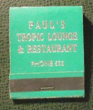 Matchbook - Paul's Tropic Lounge Ottawa IL low phone FULL