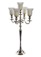5 Arm Crystal Candelabras Wedding Centerpieces Votive Candle Holders