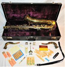 "Rare Martin 100th Anniversary 1941 ""Centennial"" Engraved Tenor Saxophone 140923"