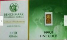 1/10 GRAM SOLID GOLD BAR    999.9 FINE   24K WITH A  COA   STRUCK IN THE U.S.A.!