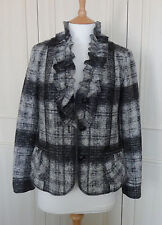 Kirsten Checked Boiled Wool Jacket - 12 - New