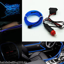 Car Suv BLUE Cold light lamp Neon Lamp 12V EL Wire Atmosphere Fluorescent Strips