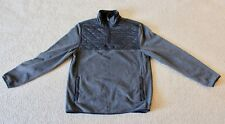 Warm Gray Prince and Fox Sweatshirt Quilted Fleece, Men's Medium