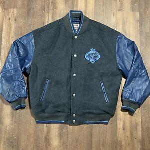 Wool Leather LAKERS NBA Mitchell Ness Hardwood Classic Jacket 1962 G3 III Banks