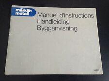 Manuel instructions Marklin metall 14901 No meccano