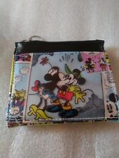 Disney Wallet Mickey Mouse Minnie Mouse Bifold Ear Zipper Pull Snap Close