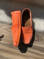 Women Toms Shoes Classics Canvas Slip Size 6.5 Womens Flats Orange Neon Henrigue