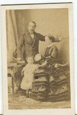 Cdv - Disdéri - Napoléon III, l'impératrice Eugénie et le prince impérial