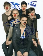THE WANTED group signed MUSIC 8X10 photo W/COA *CHASING THE SUN* MAX GEORGE #1