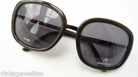Rodenstock schwarze/braun XL Sonnenbrille für Damen dunkle graue Tönung Grösse L