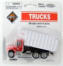 HO Scale International 3-Axle Coal Dump Truck - Red & White - Boley #4115-17
