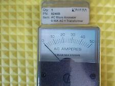 Blue Sea 8246B Micro Ammeter AC 0-50A + Coil