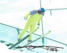 Eddie The Eagle EDWARDS Ski Jumping Olympic Legend SIGNED 10x8 Photo A AFTAL COA
