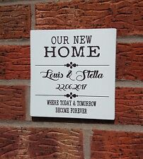 shabby vintage chic first home new home personalised plaque sign christmas gift