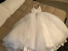 BEAUTIFUL Princess Bridal Dress (Skirt of Tulle) Size 8 (fits a size 6)
