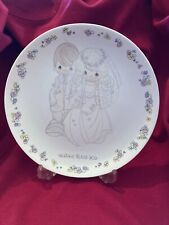 Vtg Precious Moments Bride & Groom Wedding Collector Plate Heaven Bless You