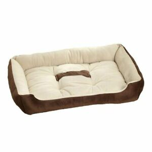 Soft Fleece Dog Cushion Bed With Bone Print Soft Warm Comfy 6 Different Sizes