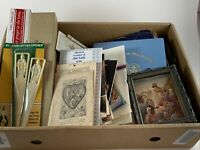 Estate Sale Lot of Religious Items Plaques Booklets Candles