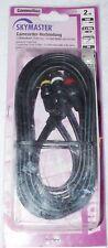 CAMCORDER-VERBINDUNG 2m SKYMASTER 1x KLINKENSTECKER 3x CINCH PC TV VCR VIDEO NEU