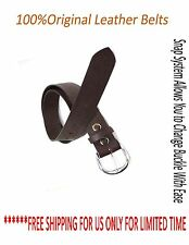 Men's Genuine Cowhide Leather Belt NEW  Fashion Snap Button Buckle Waistband