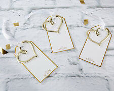 48 Gold Heart Wedding Reception Seating Escort Place Cards Set Q37321